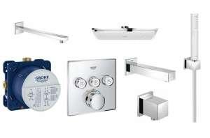 Prysznicowy termostatyczny komplet podtynkowy 3 odbiorniki