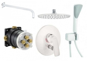 Biały podtynkowy zestaw prysznicowy Kludi Balance White 250