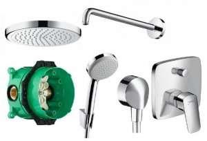 Hansgrohe Logis Podtynkowy zestaw prysznicowy 220