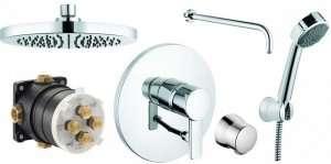 Podtynkowy zestaw prysznicowy Kludi Zenta 250