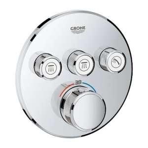 Bateria podtynkowa z termostatem do 3 odbiorników Grohe 29121