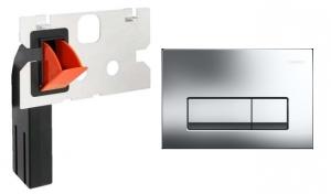 Komplet do wc przycisk Delta51 chrom z kostkarką