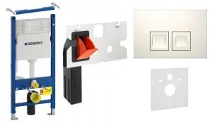 Pakiet wc geberit Duofx Basic UP100 z przyciskiem Delta 50 White i Freshem