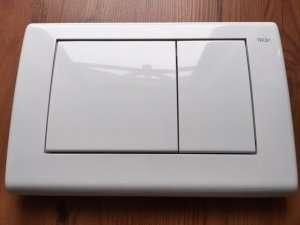 Przycisk wc Planus biały połysk 9240324