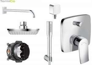 Hansgrohe Metris E2 150 podtynkowy komplet prysznicowy