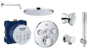 Pakiet podtynkowy z termosattem do 3 odbiorników Grohe