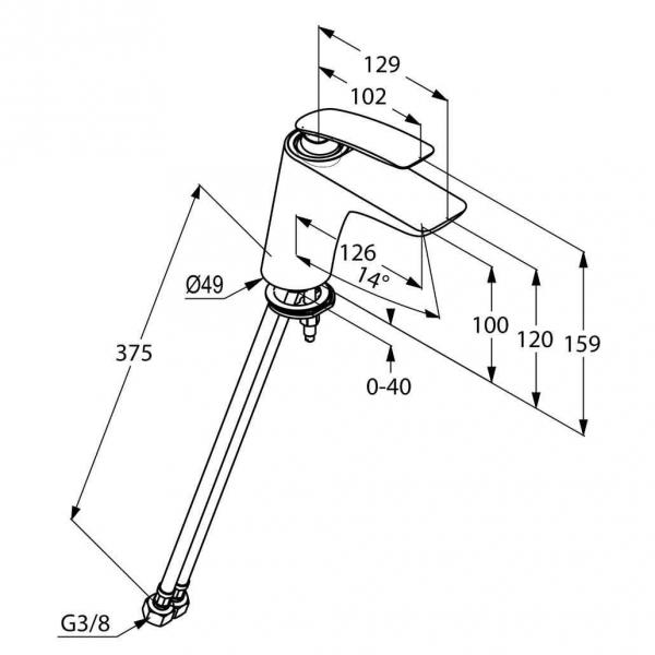 Dane techniczne baterii Kludi Balance 520268775-image_Villeroy&Boch_7E86B0R1_1
