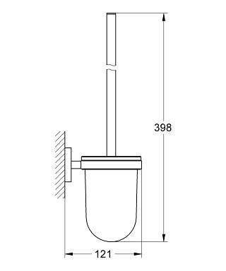 Wymiary techniczne szczotki do wc Grohe Essentials -image_Grohe_40374001_3
