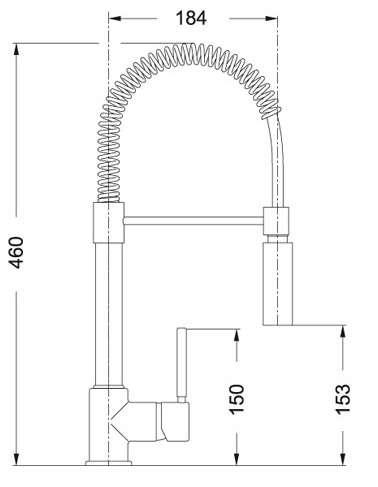 Wymiary techniczne bateri Coxy-image_Franke_115.0159.732_2