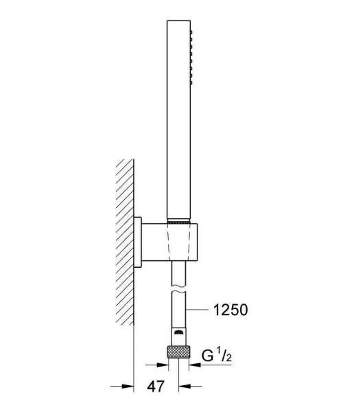 Wymiary techniczne zestawu prysznicowego Grohe Euphoria Cube 27702000-image_Grohe_27702000_4