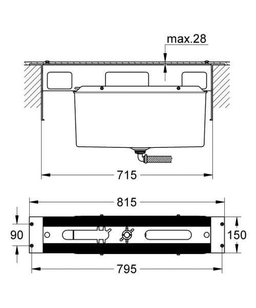 Wymiary techniczne elementu wewnętrznego Grohe 29037 000-image_Grohe_29037000_4