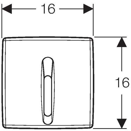 Wymiary techniczne przycisku elektronicznego Geberit Basic 115.817.46.5-image_Geberit_115.817.46.5_3