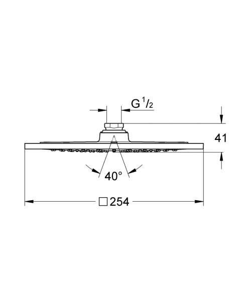 Wymiary techniczne deszczownicy Grohe Rainshower F-Series 27271000-image_Grohe_27271000_5
