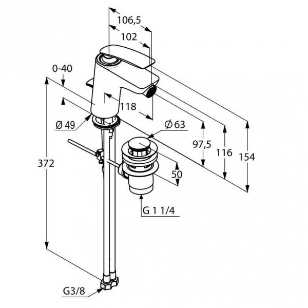Dane techniczne baterii Kludi Balance 522160575-image_Grohe_ 2779100E_1