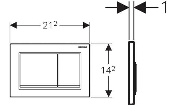 Wymiary techniczne przycisku spłukującego Geberit Omega 30 115.080.KM.1-image_Geberit_115.080.KM.1_4