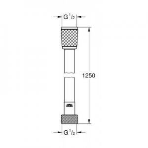 Dane techniczne węża prysznicowego Grohe Relexaflex 28150001-image_Grohe_28150001_2