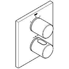 Szkic baerii podtynkowej z termostatem Grohe 19567LS0-image_Grohe_19567LS0_3