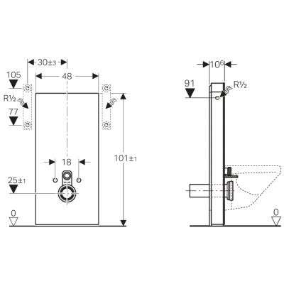 Rysunek techniczny Monolitha do WC-image_Geberit_131.022.TG.5_2
