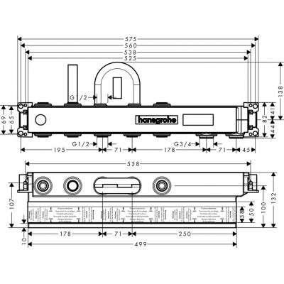 Rysunek techniczny elementu 15314180-image_Hansgrohe_15314180_3