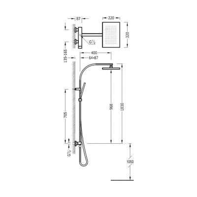 Zestaw prysznicowy Slim 202.191.01-image_Tres baterie do kuchni i łazienki_202.191.01_2