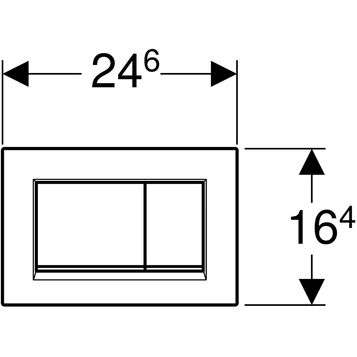 Wymiary techniczne przycisku spłukującego Geberit Sigma 30 115.883.JQ.1-image_Geberit_115.883.JQ.1_2