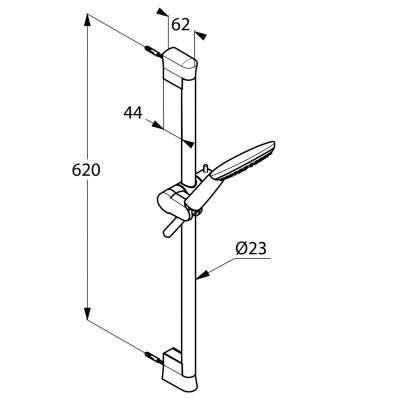 Wymiary techniczne zestawu prysznicowego Kludi Freshline 6783005-00-image_Kludi_6783005-00_3