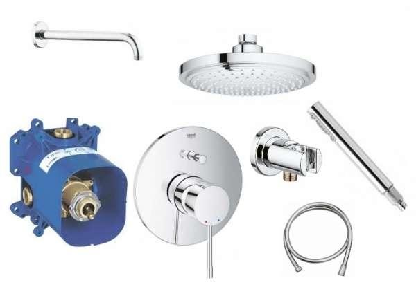 Grohe Essence podtynkowy zestaw prysznicowy ze słuchawką i deszczownicą 18cm-image_Grohe_GR/ESSENCE/180_1