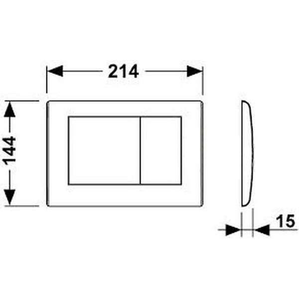 Wymiary techniczne metalowego przycisku Tece Planus 9240320-image_Tece_9.240.320_4