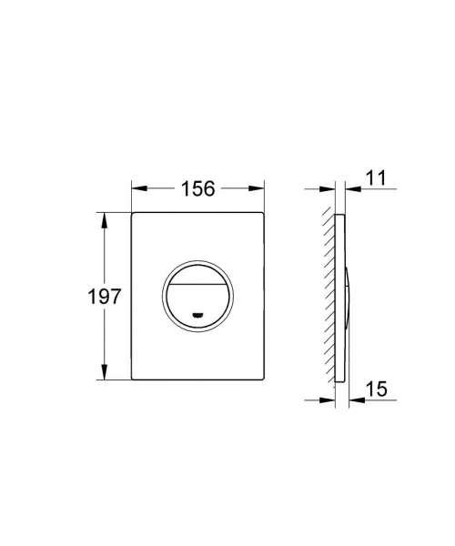 Wymiary przycisku uruchamiającego Grohe Nova Cosmopolitan 38765000 wersja pionowa-image_Grohe_38765P00_4
