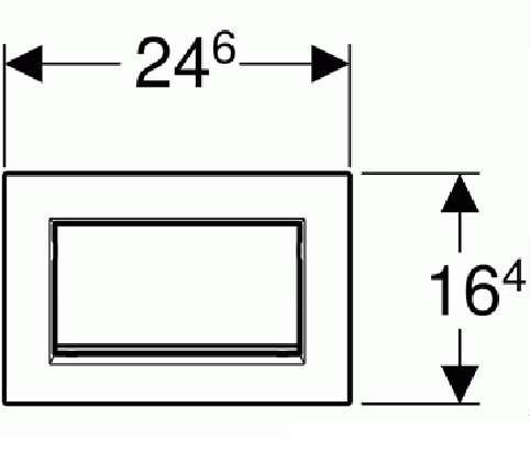 Wymiary techniczne przyciski Geberit Sigma 30 115.893.14.1-image_Geberit_115.893.14.1_2