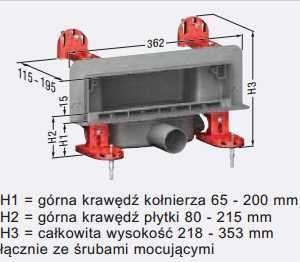 Wymiary techniczne odpływu ściennego Kessel scada 48000.02-image_Kessel_48000.02_3
