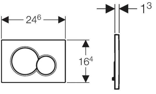 Wymiary techniczne przycisku spłukującego Geberit Sigma 01 115.770.21.5 do stelaży podtynkowych Geberit UP320.-image_Geberit_115.770.21.5_4