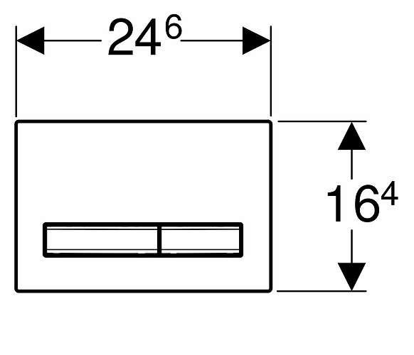 Wymiary techniczne przycisku spłukującego geberit Sigma 50 w wersji białej 115788112-image_Geberit_115.788.11.2_2