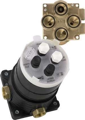 Kludi 88011 uniwersalny podtynkowy element montażowy do większości elementów wannowych i prysznicowych firmy Kludi.-image_Kludi_88011_1