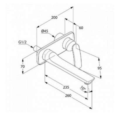 Rysunek techniczny Kludi Balance bateria umywalkowa podtynkowa 522478775-image_Kludi_522478775_2