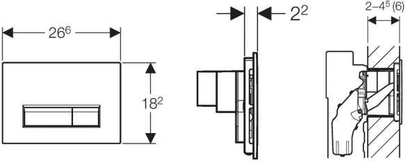 Rysunek techniczny przycisku spłukującego Geberit Sigma 40 115.600.KQ.1-image_Geberit_115.600.KQ.1_4