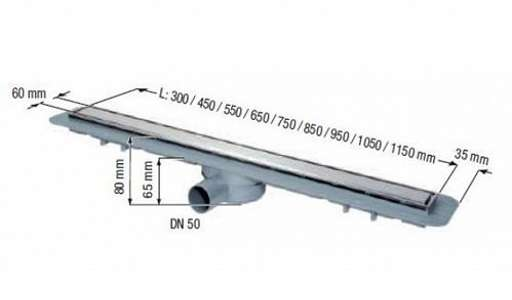 Wymiary techniczne odwodnienia liniowego kessel 45600.67-image_Kessel_45600.67_3